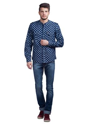 Spykar W14-41 Blue Men Casual Shirt