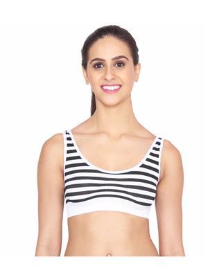 Ansh Fashion Wear Wb-S001 White Women Sports Bra