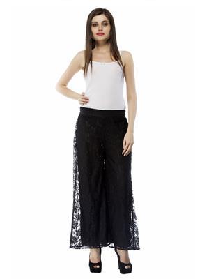 Fashion Planet 0023 Women Black Plazzo