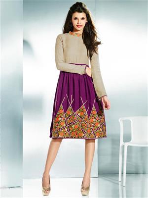 Eternal EX-K-108  Women Purple Woolen Dress