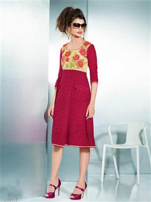 Eternal EX-K-119  Women Pink Woolen Dress