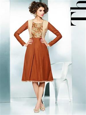 Eternal EX-K-122  Women Brown Woolen Dress
