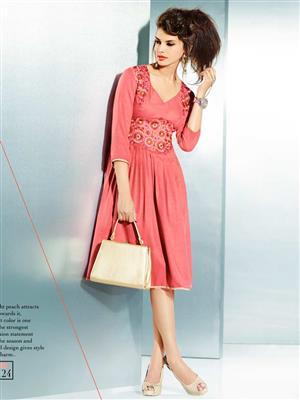 Eternal EX-K-124  Women Pink Woolen Dress