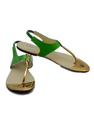 Novelty NV42 Green Womens Sandal
