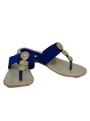 Novelty NV48 Blue Womens Flats