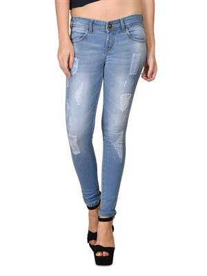 Hash 69 H177-Ice Blue Womens Jeans