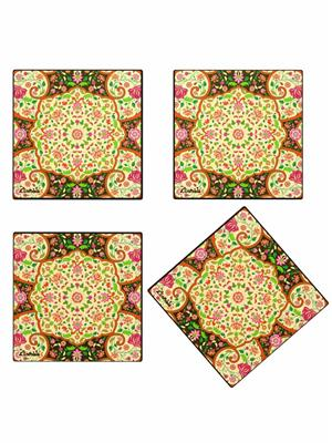 Kolorobia  WCMGD14Mesmerizing Mughal Wooden Coasters