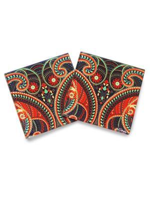 Kolorobia  WCPS09Illuminating Paisley  Coasters