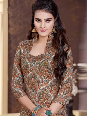 Adda Fashion LW-505 Brown Woolen Suit