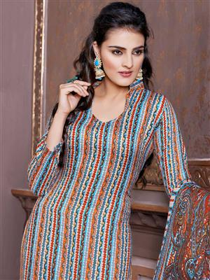 Adda Fashion LW-507 Multi Color Woolen Suit