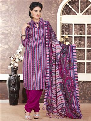 Adda Fashion LW-508 Purple Woolen Suit