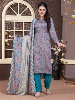 Adda Fashion LW-514 Blue Woolen Suit