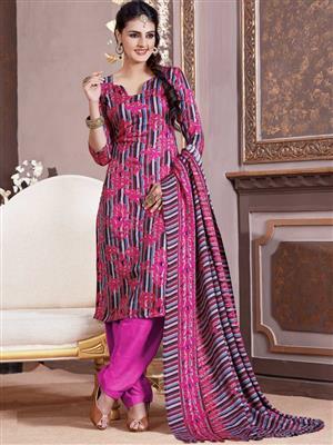 Adda Fashion LW-515 Purple Woolen Suit