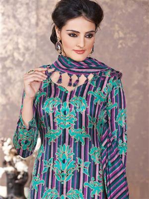 Adda Fashion LW-516 Multi Color Woolen Suit