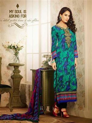 Adda Fashion MY-M6-01 Green Woolen Suit