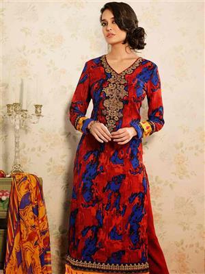 Adda Fashion MY-M6-02 Red Woolen Suit