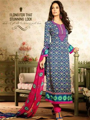 Adda Fashion MY-M6-04 Blue Woolen Suit
