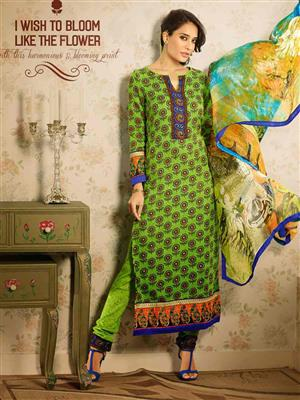 Adda Fashion MY-M6-12 Green Woolen Suit