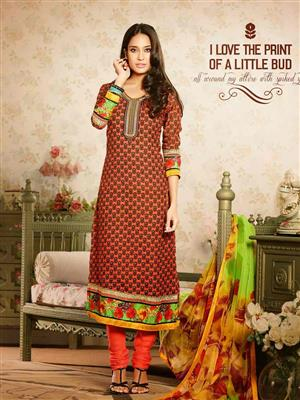 Adda Fashion MY-M6-14 Orange Woolen Suit