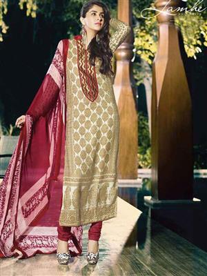 Adda Fashion OM-L2 Beige Woolen Suit