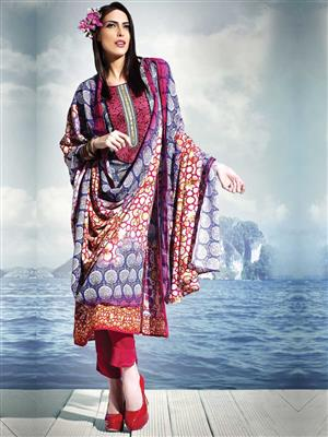 Adda Fashion SH-WR-02 Multi Color Woolen Suit
