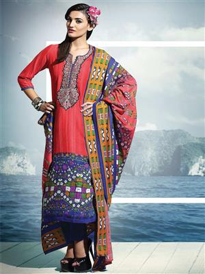 Adda Fashion SH-WR-08 Red Woolen Suit