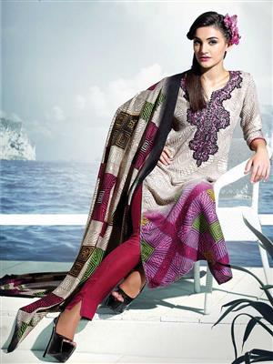 Adda Fashion SH-WR-09  Multi Color Woolen Suit