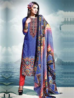 Adda Fashion SH-WR-10  Blue Woolen Suit