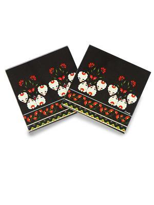 Kolorobia  WCTU11White Flowers Turkish Coasters