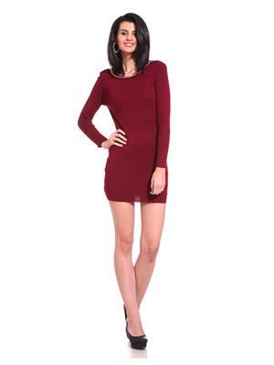 Saiints Wd022-Maroon Women Dresses