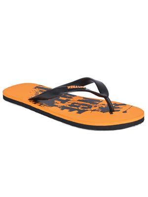 WEGA LIFE WGLF6 Orange-Black Men Flip-Flops