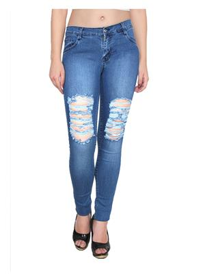 Ansh Fashion Wear Wj-T-5 Blue Women Jeans