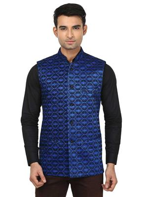 Qdesigns WJ-05 Blue Men Waist Jacket