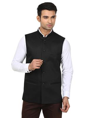 Qdesigns WJ-08 Black Men Waist Jacket