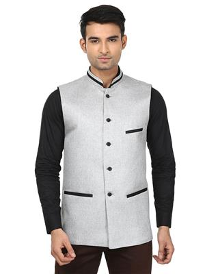 Qdesigns WJ-13 Grey Men Waist Jacket
