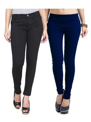 Ansh Fashion Wear WJG-2CM-1 Multicolored Women Jeans With Jegging