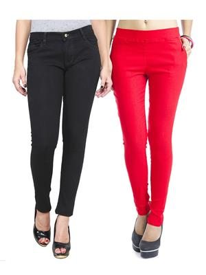 Ansh Fashion Wear WJG-2CM-3 Multicolored Women Jeans With Jegging