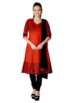 Aurelia K10248-77540 Red Women Churidar Suit