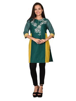 W K14921-56362 Green Women Kurta