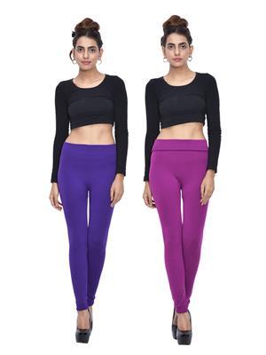 Both11 Wlg-Db-11-17 Multicolored Women Legging Set Of 2