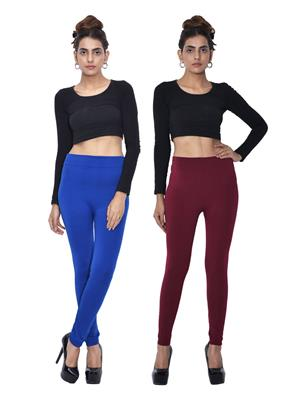 Both11 Wlg-Db-3-8 Multicolored Women Legging Set Of 2