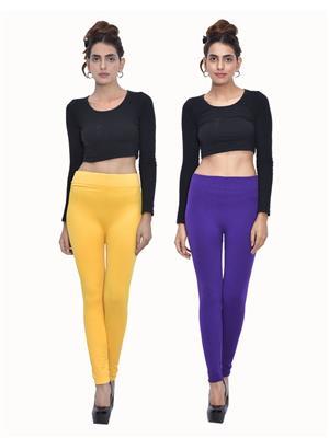 Both11 Wlg-Db-4-11 Multicolored Women Legging Set Of 2