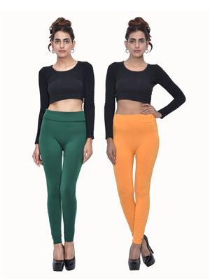 Both11 Wlg-Db-6-10 Multicolored Women Legging Set Of 2