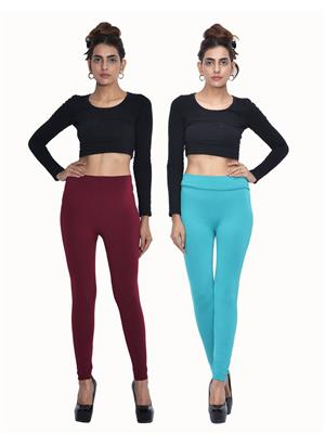 Both11 Wlg-Db-8-9 Multicolored Women Legging Set Of 2