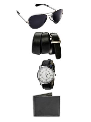 Ansh Fashion Wear WPBS  Watch,Belt,Wallet With Sunglass