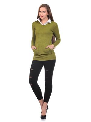 Saiints Ws003-Greenish Women Sweater