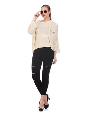 Saiints Ws007-Cream Women Sweater