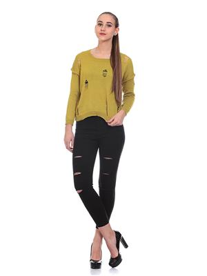 Saiints Ws012-Olivegreen Women Sweater
