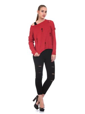 Saiints Ws012-Red Women Sweater