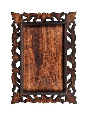 HOMEZ WT001 Wooden Carved Tray